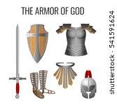 set of armor of god elements...