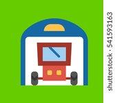 garage icon flat disign   Shutterstock .eps vector #541593163