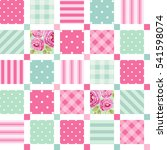 cute seamless vintage pattern... | Shutterstock .eps vector #541598074