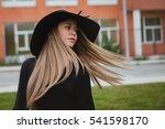 portrait of a pretty girl...   Shutterstock . vector #541598170