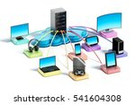 electronic devices with smart... | Shutterstock . vector #541604308