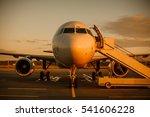 plane at sunrise | Shutterstock . vector #541606228