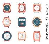 different men and women watches ... | Shutterstock .eps vector #541608610