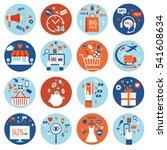 e commerce online shopping set... | Shutterstock .eps vector #541608634