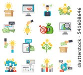 crowdfunding decorative icons... | Shutterstock .eps vector #541608646