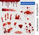 blood spatters realistic... | Shutterstock .eps vector #541608649