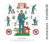 professional pest control... | Shutterstock .eps vector #541608658
