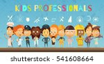 flat cartoon composition with... | Shutterstock .eps vector #541608664