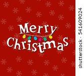 merry christmas text. design... | Shutterstock . vector #541609024