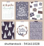 collection of christmas poster ... | Shutterstock . vector #541611028