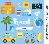 vector flat style set of travel ... | Shutterstock .eps vector #541613584
