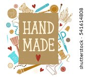 arts and crafts sewing hand... | Shutterstock .eps vector #541614808