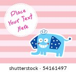 happy cute elephant tag | Shutterstock .eps vector #54161497