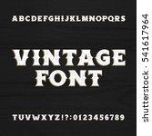 vintage typeface. retro... | Shutterstock .eps vector #541617964