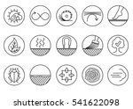wood properties icons. vector... | Shutterstock .eps vector #541622098