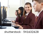 pupils wearing school uniform...   Shutterstock . vector #541632628