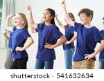 group of children enjoying... | Shutterstock . vector #541632634