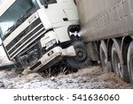 Truck Accident On Snow And Icy...