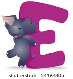 E For Elephant   Vector