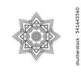 hand drawn decorative round... | Shutterstock . vector #541643560