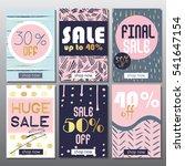 set of artistic mobile sale... | Shutterstock .eps vector #541647154
