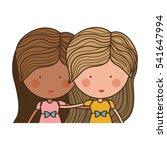 isolated girl cartoon design | Shutterstock .eps vector #541647994