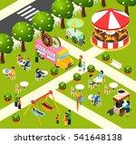 street food truck in fairy... | Shutterstock . vector #541648138