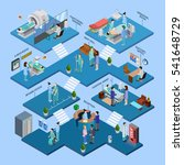 hospital isometric infographics ... | Shutterstock . vector #541648729