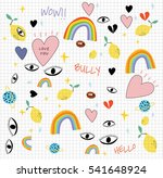 set of fashion patches and...   Shutterstock .eps vector #541648924