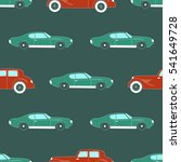 transportation pattern with... | Shutterstock .eps vector #541649728