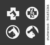 logo for veterinary clinics ... | Shutterstock .eps vector #541651366