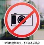 No Photos Sign On The Window O...