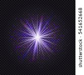 blue and purple glowing star... | Shutterstock .eps vector #541652668