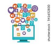 computer social media and... | Shutterstock .eps vector #541652830