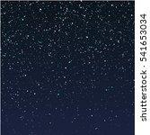 falling snow on dark blue sky ... | Shutterstock .eps vector #541653034