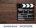 vintage classic clapperboard on ...   Shutterstock . vector #541653208