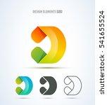 vector abstract letter d logo... | Shutterstock .eps vector #541655524