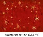 many snowflakes over red cloth  ... | Shutterstock . vector #54166174
