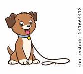 Stock vector cartoon dog puppy 541664413