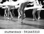 graceful ballerinas feet... | Shutterstock . vector #541665310
