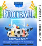 football poster event info... | Shutterstock .eps vector #541666048