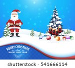 winter and christmas landscape  ... | Shutterstock .eps vector #541666114