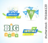colorful big and super sale... | Shutterstock .eps vector #541666120