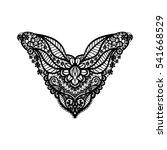 neckline design for fashion.... | Shutterstock . vector #541668529