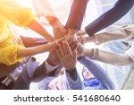 underneath view  business... | Shutterstock . vector #541680640