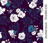 roses dd flower pattern on a... | Shutterstock .eps vector #541681153