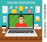 training  education  online... | Shutterstock .eps vector #541681888