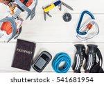 top view of equipment for... | Shutterstock . vector #541681954