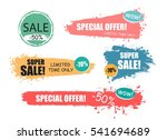 set of sale  discount stickers... | Shutterstock .eps vector #541694689