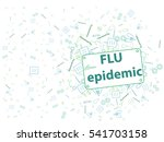 prevention of colds  flu  icons ... | Shutterstock .eps vector #541703158